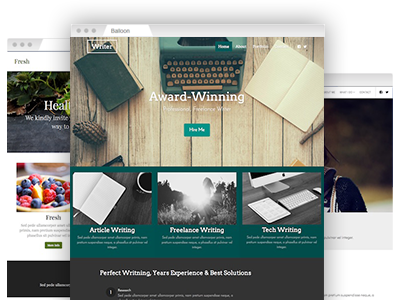 An assortment of easy–to–redesign website themes